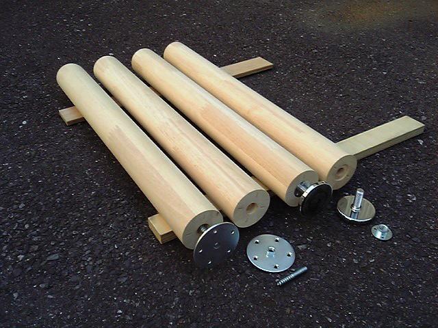 木工日誌 : 木製テーブル丸脚
