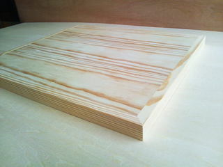 テーブル天板・イエローパイン単板貼り01