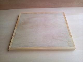 テーブル天板・イエローパイン単板貼り02