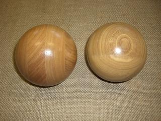 木球クリア塗装
